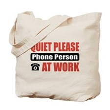 Phone Person Work Tote Bag