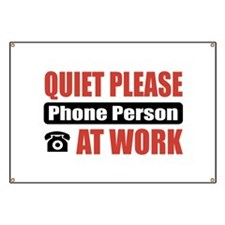 Phone Person Work Banner