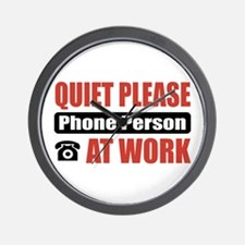 Phone Person Work Wall Clock