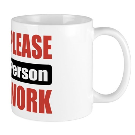 Phone Person Work Mug