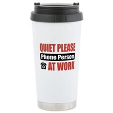 Phone Person Work Travel Mug