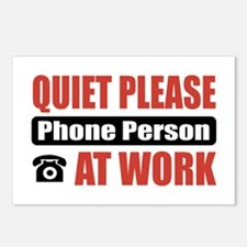 Phone Person Work Postcards (Package of 8)