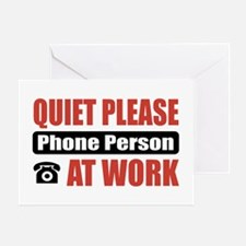 Phone Person Work Greeting Card