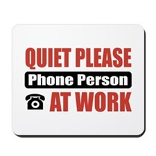Phone Person Work Mousepad