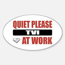 TVI Work Oval Decal