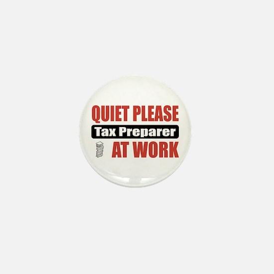 Tax Preparer Work Mini Button