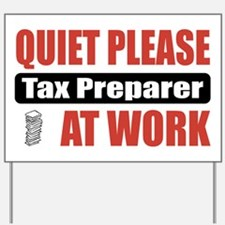 Tax Preparer Work Yard Sign