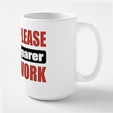 Tax Preparer Work Large Mug