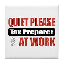 Tax Preparer Work Tile Coaster