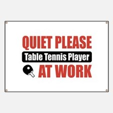 Table Tennis Player Work Banner