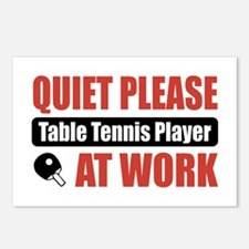 Table Tennis Player Work Postcards (Package of 8)