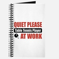 Table Tennis Player Work Journal