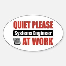 Systems Engineer Work Oval Decal