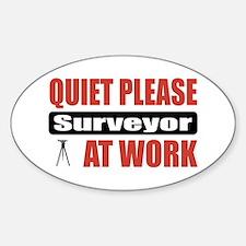 Surveyor Work Oval Decal