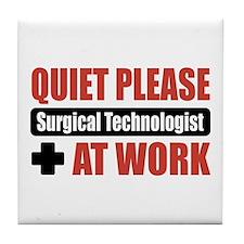 Surgical Technologist Work Tile Coaster