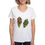 Leaf Frogs Women's V-Neck T-Shirt