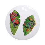 Leaf Frogs Ornament (Round)