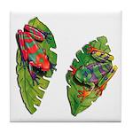 Leaf Frogs Tile Coaster