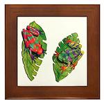 Leaf Frogs Framed Tile
