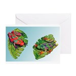 Leaf Frogs Greeting Card