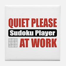 Sudoku Player Work Tile Coaster