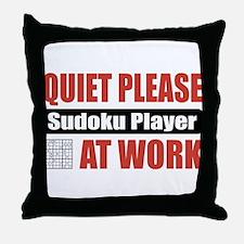 Sudoku Player Work Throw Pillow