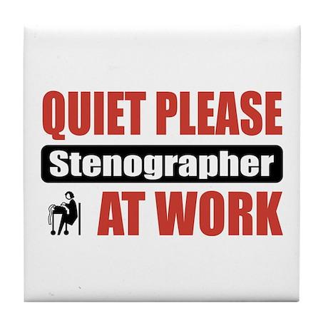 Stenographer Work Tile Coaster