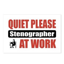 Stenographer Work Postcards (Package of 8)