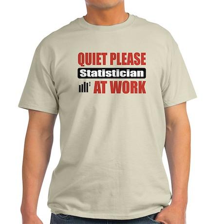 Statistician Work Light T-Shirt