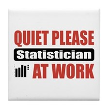 Statistician Work Tile Coaster