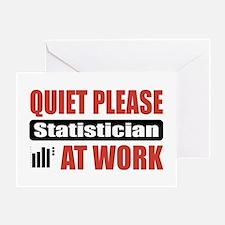 Statistician Work Greeting Card