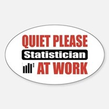 Statistician Work Oval Decal