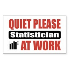 Statistician Work Rectangle Decal