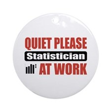Statistician Work Ornament (Round)