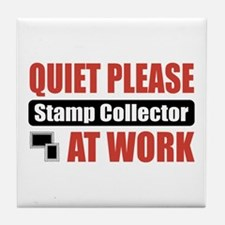 Stamp Collector Work Tile Coaster