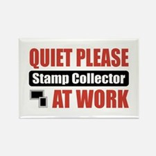 Stamp Collector Work Rectangle Magnet