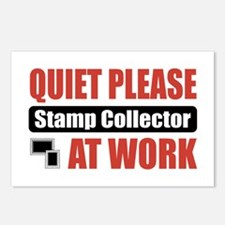 Stamp Collector Work Postcards (Package of 8)
