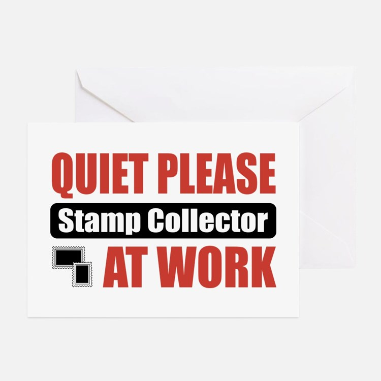 Stamp Collector Work Greeting Cards (Pk of 10)