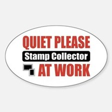 Stamp Collector Work Oval Decal
