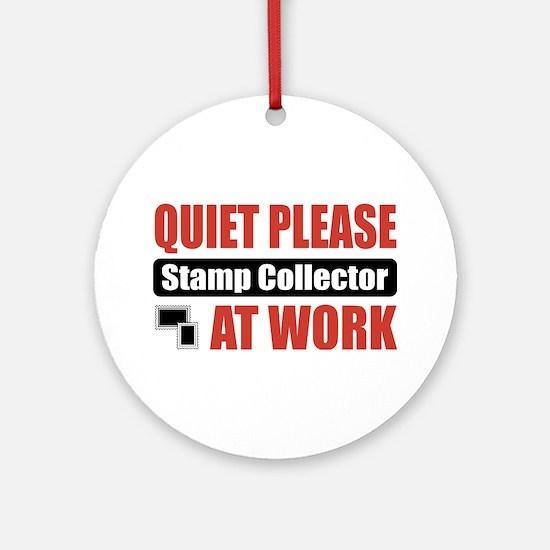 Stamp Collector Work Ornament (Round)