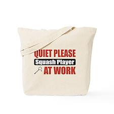 Squash Player Work Tote Bag