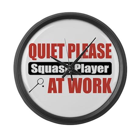 Squash Player Work Large Wall Clock