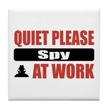 Spy Work Tile Coaster