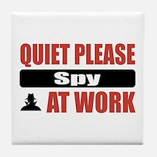 Spy Work Tile Coaster