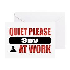 Spy Work Greeting Card