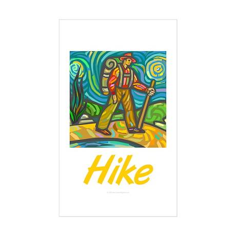 Hike Rectangle Sticker 10 pk)