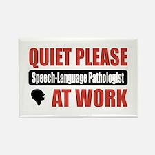 Speech-Language Pathologist Work Rectangle Magnet