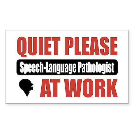 Speech-Language Pathologist Work Sticker (Rectangl