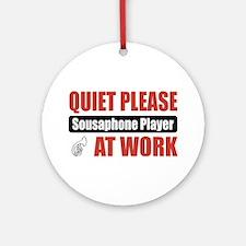 Sousaphone Player Work Ornament (Round)