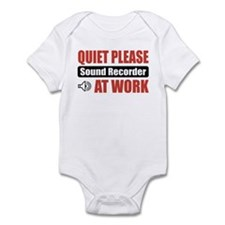 Sound Recorder Work Infant Bodysuit